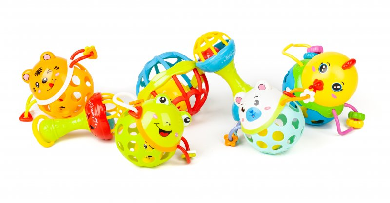 40047 SET OF 7 RATTLES WITH SOFT BASE