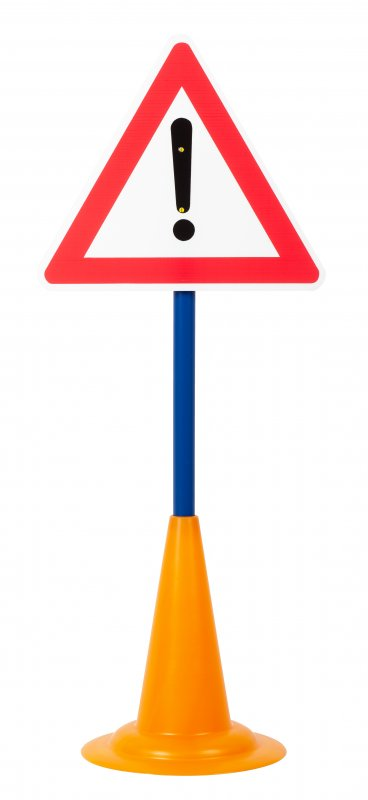 40052 SET 12 TRAFFIC SIGNS WITH CONE BASE 40052 (12)