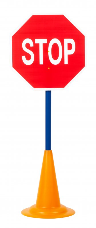 40052 SET 12 TRAFFIC SIGNS WITH CONE BASE 40052 (3)