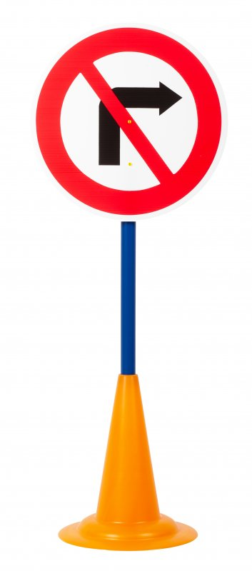 40052 SET 12 TRAFFIC SIGNS WITH CONE BASE 40052 (5)