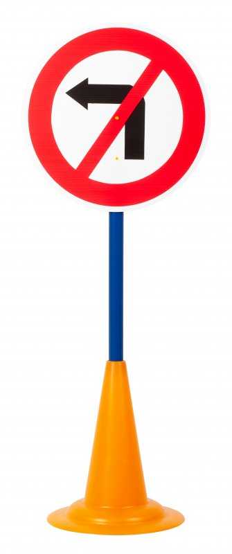 40052 SET 12 TRAFFIC SIGNS WITH CONE BASE 40052 (7)