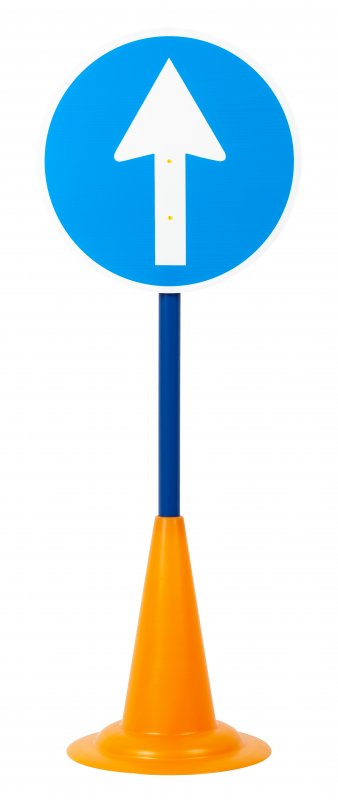 40052 SET 12 TRAFFIC SIGNS WITH CONE BASE 40052 (9)