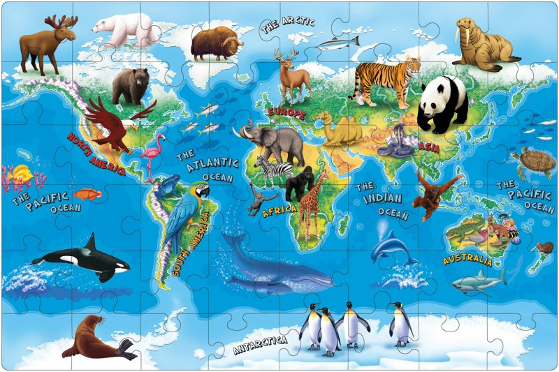 40156 TUZZLE ANIMALS OF THE WORLD 48 pieces