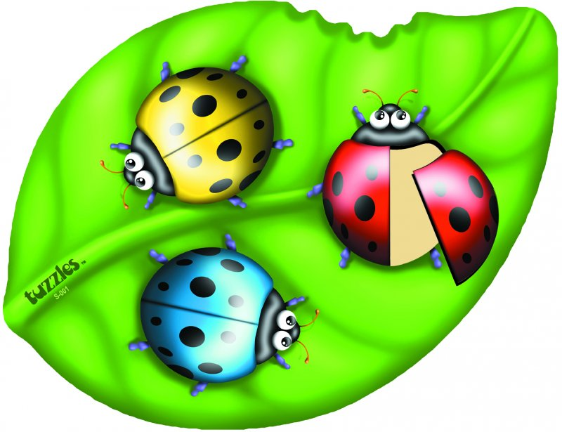 40162 TUZZLE LADYBIRDS ON A LEAF 9 pieces