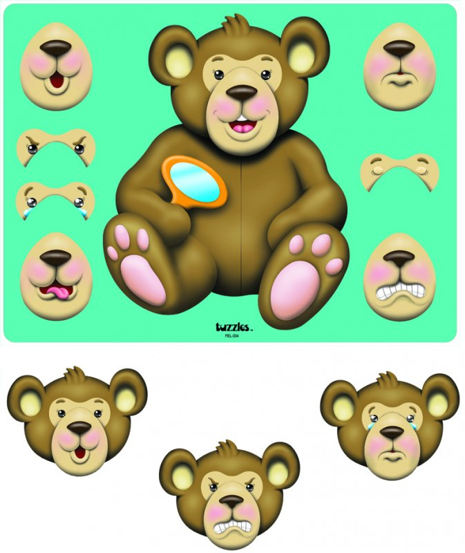 40173 TUZZLE BEAR EXPRESSIONS 21 pieces