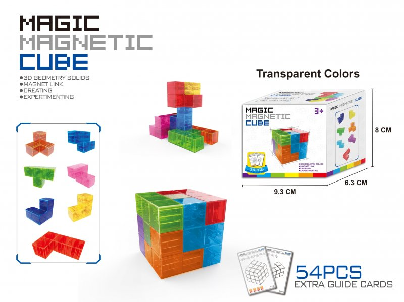 40485 MAGIC MAGNETIC CUBE +54 CARDS