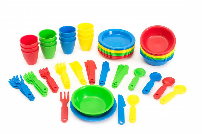 41008 SET 72 CUTLERY, GLASS, PLATES